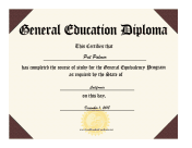 Insane image in printable ged certificate