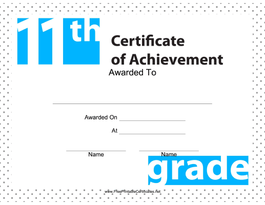 11th Grade Achievement