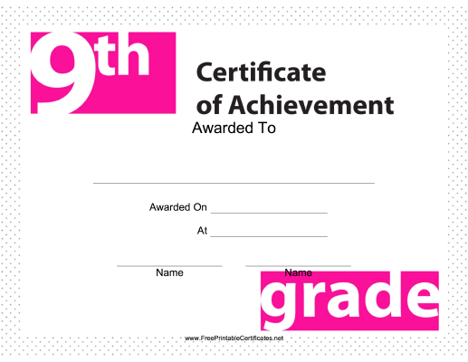 9th Grade Achievement