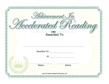 Achievement In Accelerated Reading
