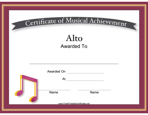Alto Vocal Music