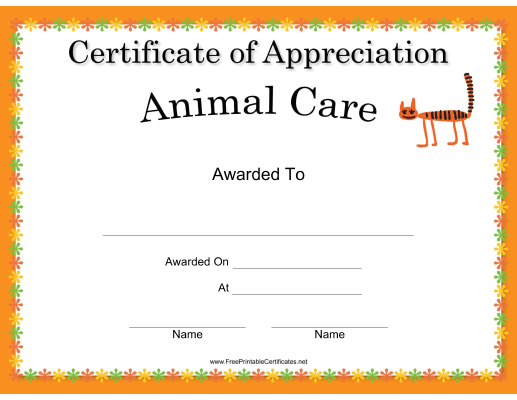 Animal Care Appreciation Cat