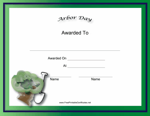 Arbor Day Holiday