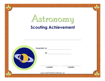 Astronomy Badge