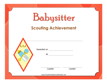 Babysitter Badge