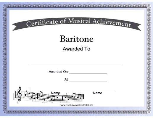 Baritone Vocal Music