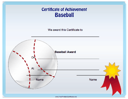 Baseball Achievement