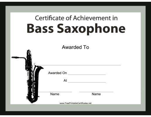 Bass Saxophone Instrumental Music
