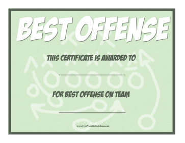 Best Offense Award