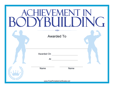 Bodybuilding Blue