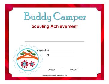 Buddy Camper Badge