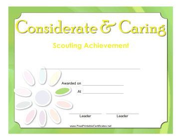Considerate And Caring Badge