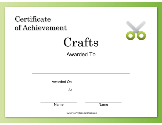 Crafts Achievement