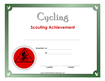 Cycling Badge