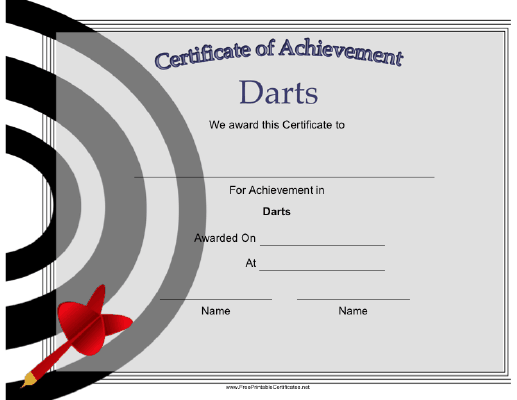 Darts Achievement