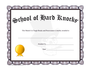 Diploma School Of Hard Knocks