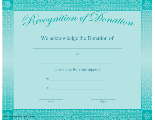Recognition of Donation