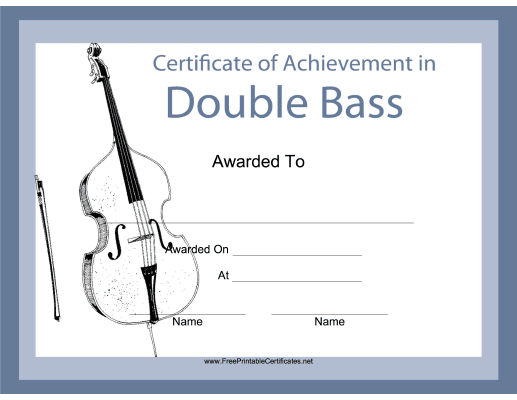 Double Bass Instrumental Music