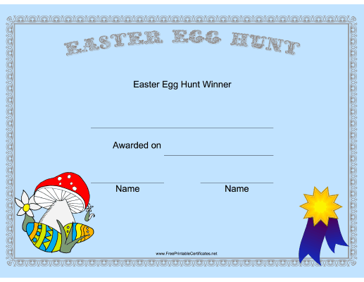 Easter Egg Hunt Winner