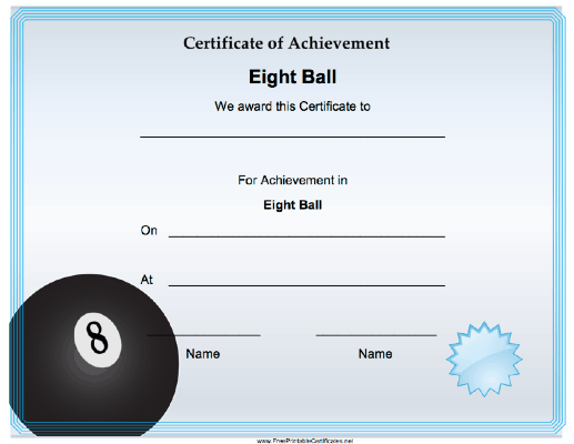 Eight Ball Achievement