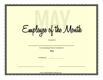 Employee Of The Month May
