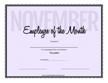 Employee Of The Month November
