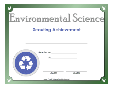 Environmental Science Badge