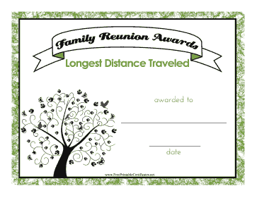 Family Reunion Longest Distance