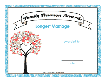 Family Reunion Longest Marriage