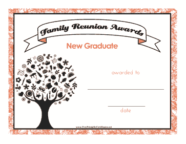 Family Reunion New Graduate