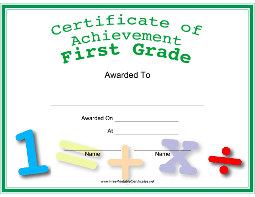 First Grade Achievement