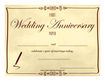 First Wedding Anniversary