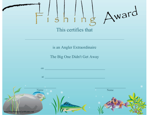Fishing Award