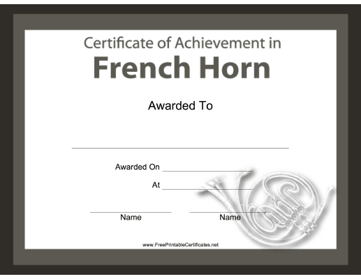 French Horn Instrumental Music