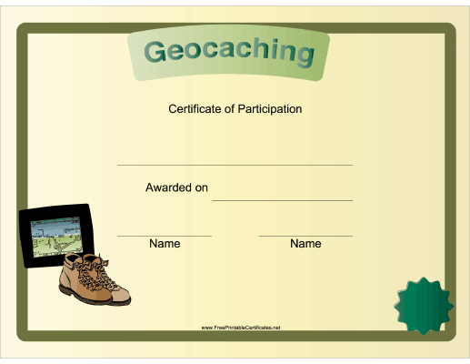 Geocaching Participation