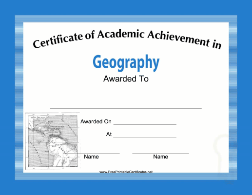 Geography Academic