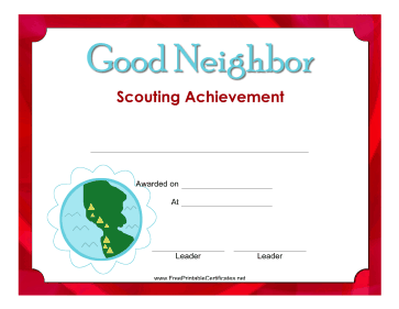Good Neighbor Badge
