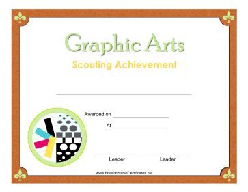 Graphic Arts Badge