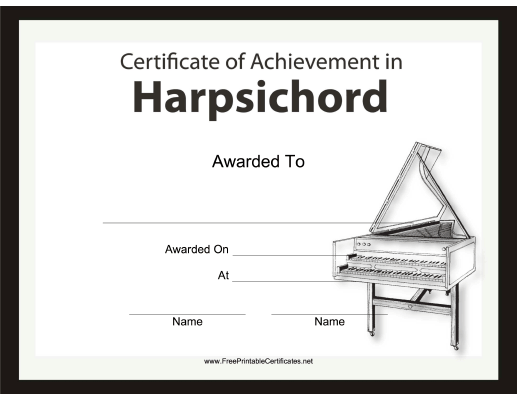 Harpsichord Instrumental Music