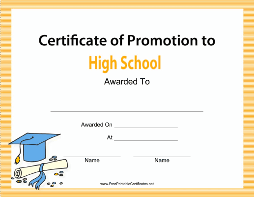 High School Promotion