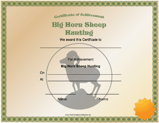 Hunting Big Horn Sheep Achievement