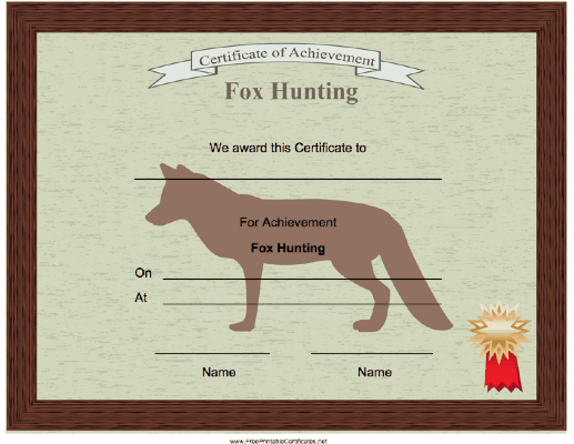 Hunting Fox Achievement