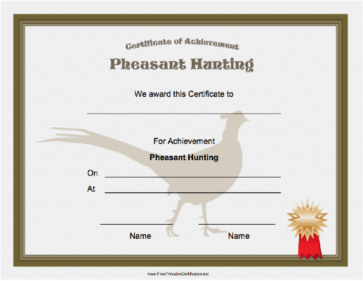 Hunting Pheasant Achievement