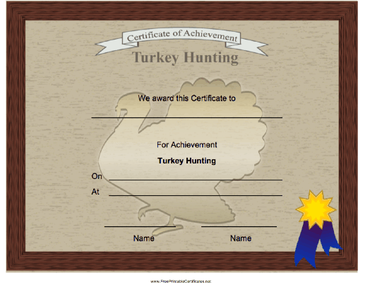 Hunting Turkey Achievement