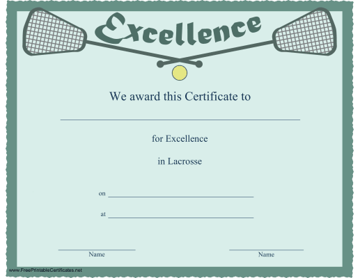 Excellence in Lacrosse