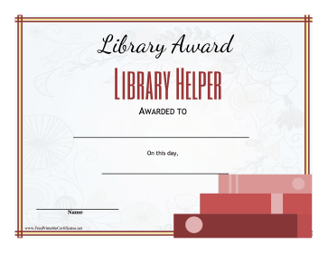Library Award Library Helper