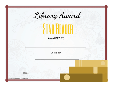 Library Award Star Reader