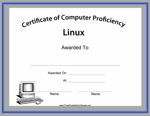 Linux Computer Proficiency