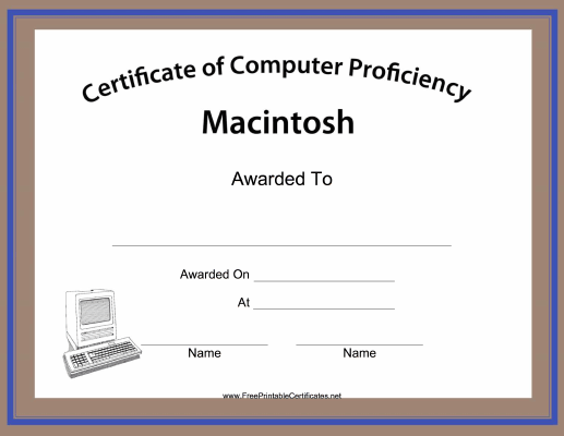 Macintosh Computer Proficiency