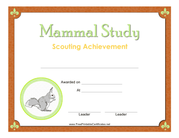 Mammal Study Badge